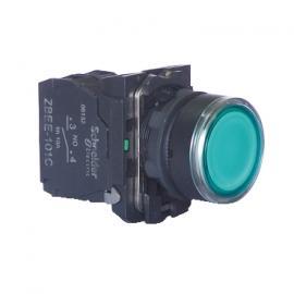 施耐德平头按钮XB5AW33B1C塑料照明按钮XB5AW33B1C