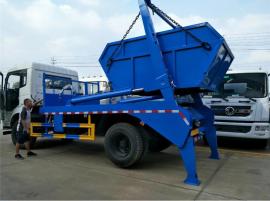 东风新型8吨摆臂式垃圾车,8立方摆臂式垃圾车功能配置报价
