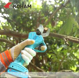嘉航KH-G03-K锂电池电动剪刀 充电果树剪 电动修枝剪 果树剪刀