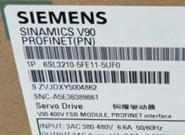 西门子V90伺服驱动器1.5KW全新原装6SL3210-5FB11-5UF0正品现货