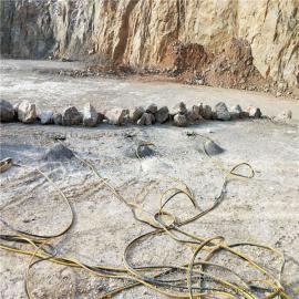 采石场开裂石头用劈裂机劈裂