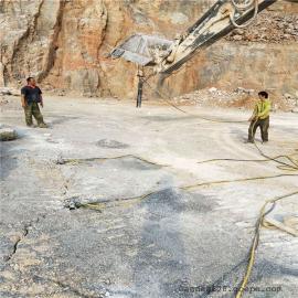 矿山荒料岩石大吨位劈裂器