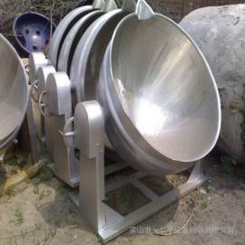 二手600升不锈钢夹层锅 不锈钢炒锅 行星搅拌炒锅