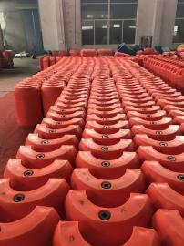 海上抽水管道包揽式两半片螺栓固定浮体