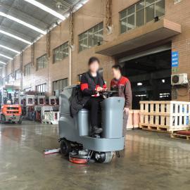 虹桥飞机场火车站洗地机 大型大面积驾驶式电瓶全自动洗地机高美