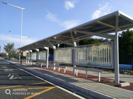 4大2小公交候车亭制作 半圆球公交候车亭制造 非标定制公交站台