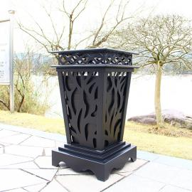 户外垃圾桶-铝合金垃圾桶-金属垃圾桶