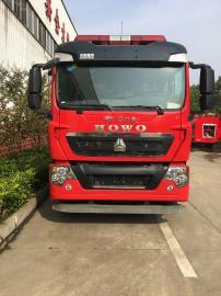 豪沃7吨干粉水罐泡沫消防车配置参数查询