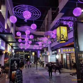 2019年LED过街灯 华妮户外防水LED跨街灯 春节灯杆美化灯
