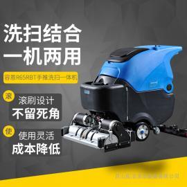重油污地面清洗容恩洗地扫地一体机R65RBT品牌拖地机适合工厂