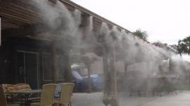 水云间餐厅咖啡厅喷雾降温