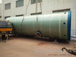 市政排水玻璃钢一体化污水泵站