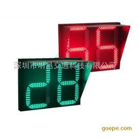 800*600红绿双色双位倒计时信号灯 金属外壳 LED交通信号灯