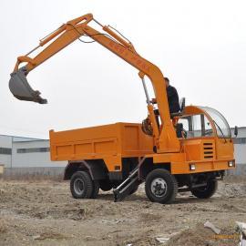 久兴定做自卸式履带挖掘机 农用拉土拉沙四不像随车挖