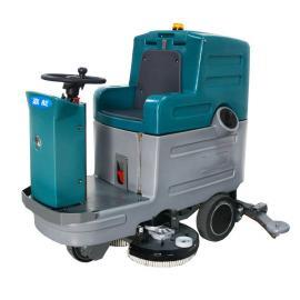 车库环氧地坪清洗用双刷驾驶式洗地机