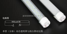 T8雷达led灯管雷达感应led日光灯