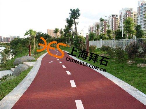 绍兴彩色透水混凝土路面施工材料生产厂家,拜石