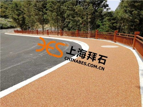 武汉胶粘石透水混凝土路面施工材料*,生产厂家,拜石