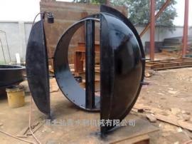 弘鑫-节能侧翻拍门 HDPE玻璃钢拍门 PM钢制拍门