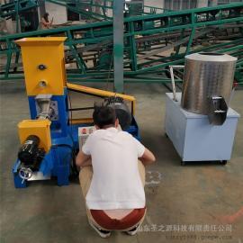 圣之源 全自动膨化机生产线 双螺杆饲料膨化机