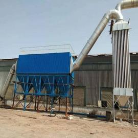 石料厂制砂机除尘设备现场安装方法-盛景制作矿山除尘器