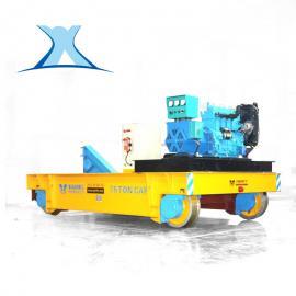 百特智能电动轨道平板牵引车 牵引车厢轨道平板车