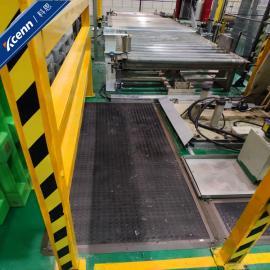 科恩国产安全地毯安全地垫橡胶脚踏信号开关弯管机机器人工作站