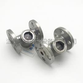 法兰叶轮视镜 不锈钢叶轮水水流指示器 铸钢水流显示器 DN50 4寸