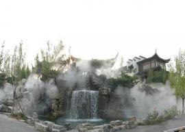 室外假山喷泉水景
