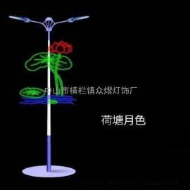 优质LED帆船造型路灯杆装饰灯 鲜花造型灯 路灯杆亮化美化彩灯