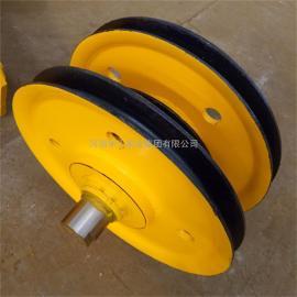 16吨钢丝绳吊装滑轮组 铸钢轧制 起重机卷扬机定滑轮 导绳轮