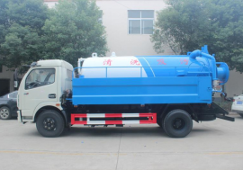 东风多利卡8方高压清洗吸污车大型管道疏通吸污清洗一体车厂家