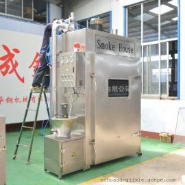 YX-250大型烟熏炉,香肠腊肉烟熏设备,不锈钢熏蒸炉