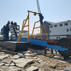 操作简单的河沙选金淘金船 大型淘金船生产 实惠优质的挖沙船