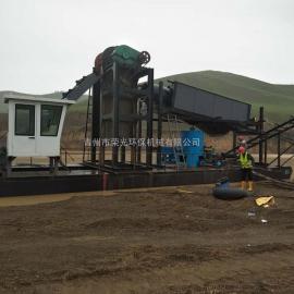 绞吸式挖泥淘金清淤船 挖沙淘金船选金设备 大型河道淘金船