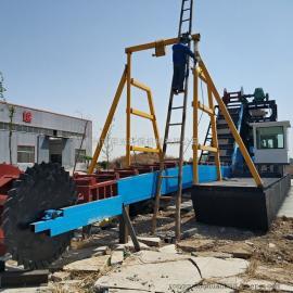 移�由辰�C械定做 中��首��出口淘金船生�a �斗式挖沙船