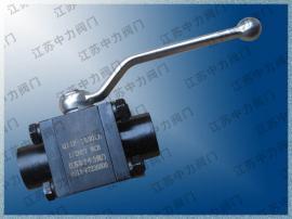 Q11F -1500LB NPT1/2 锻钢对夹式手动球阀