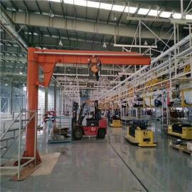 500公斤定柱式悬臂起重机 电动旋转单臂吊 车间物料吊卸悬臂吊