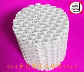 陶瓷孔板波纹填料 500Y 700Y 陶瓷波纹规整填料 金达莱精填牌