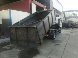水厂10吨脱水污泥密封自卸运输车