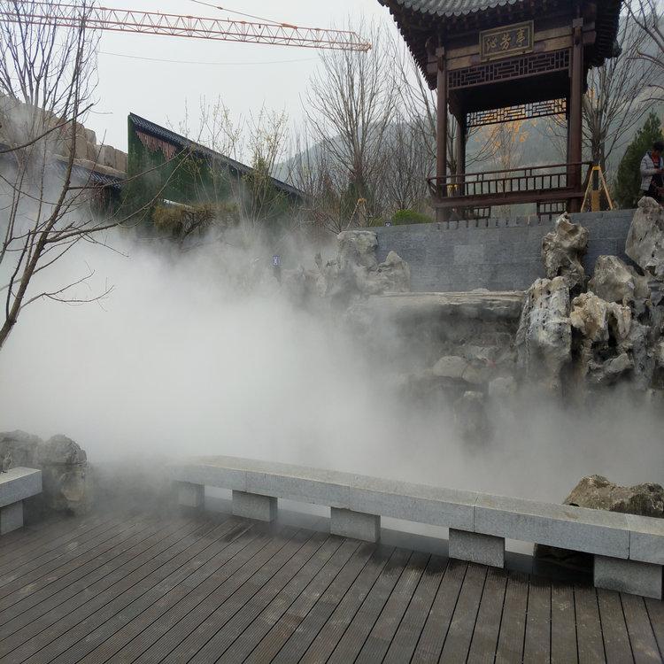公园假山人造雾森操作方法