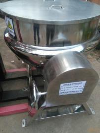 立式有出料口夹层锅 炒酱料炒锅 煮肉卤味夹层锅 煮小米粥锅