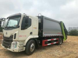 大中型12吨16吨带大落地斗压缩垃圾车