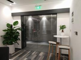 华洲安装平移门,平移玻璃门销售
