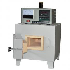 SX2-5-12D塑胶烟道式马弗炉 沪粤明1200℃烟筒式实验电炉