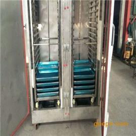 出售大型蒸汽蒸箱 72盘双门蒸饭车 食堂学校蒸房 电蒸汽两用