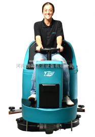 大型地下车库专用特沃斯T150驾驶式洗地机型号