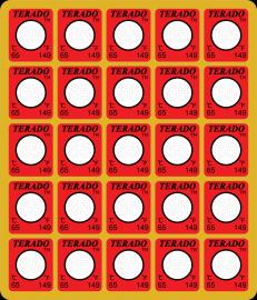 不可逆型测温贴片变色测温贴示温片温度标签测温纸HTD-65