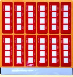 不可逆测温贴片变色测温贴示温片温度标签测温纸HTD50-80