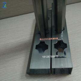 扁铁切角菱形孔梅花管 电动冲孔设备 不锈钢防盗网冲孔冲弧口